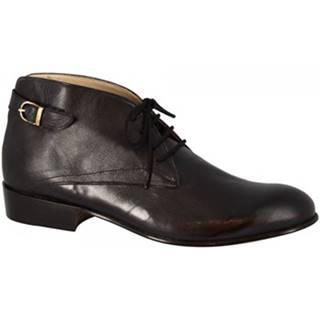 Nízke čižmy Leonardo Shoes  PINA 045 NERO