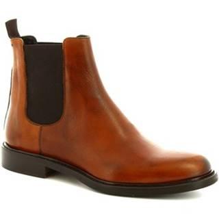 Polokozačky Leonardo Shoes  1039_4 PE VITELLO CUOIO