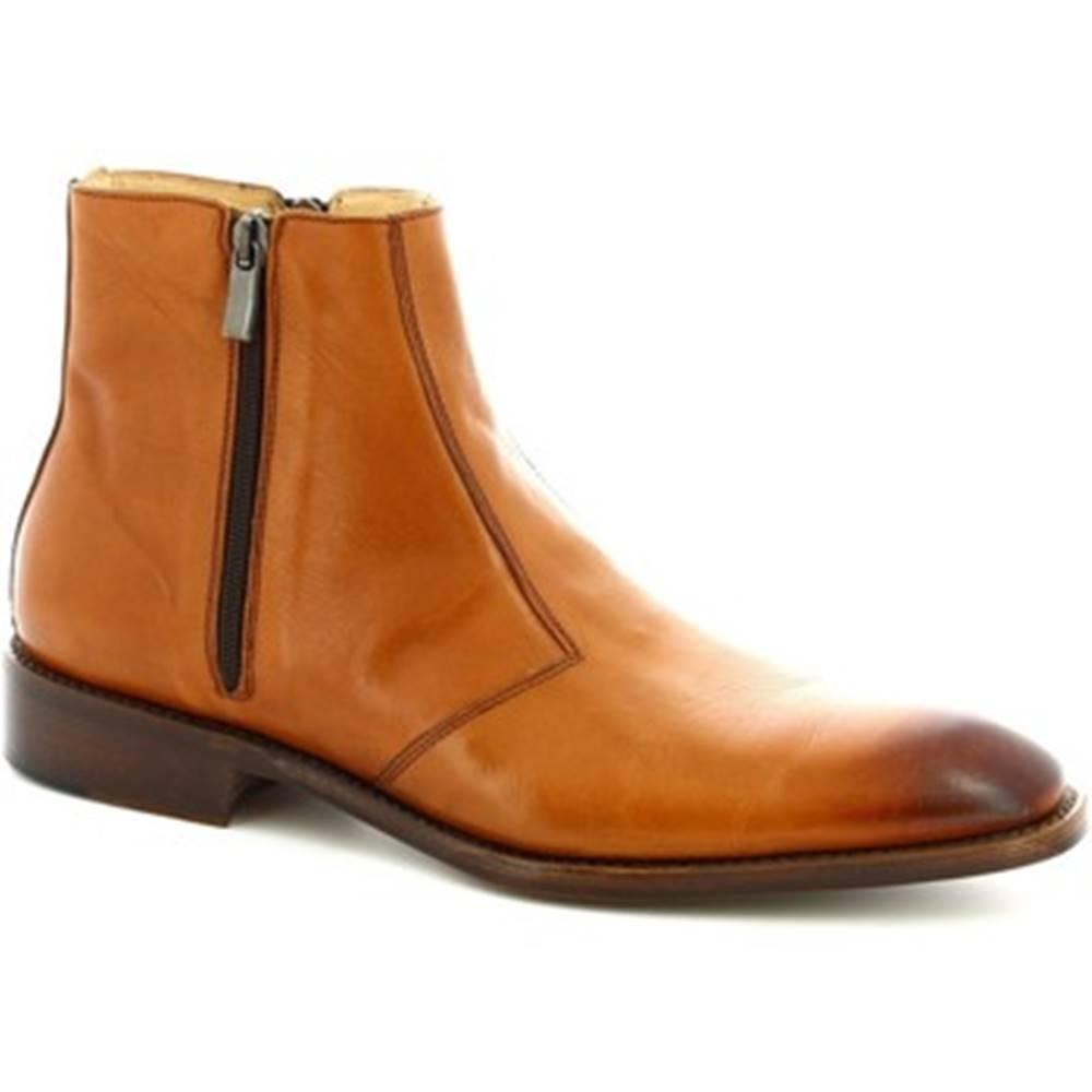 Leonardo Shoes Polokozačky Leonardo Shoes  PINA 467 VITELLO CUOIO