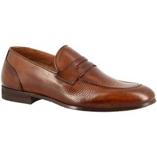 Mokasíny Leonardo Shoes  9493E20 TOM ALCE AV BRANDY