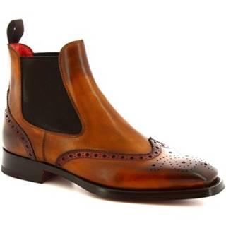 Polokozačky Leonardo Shoes  9140/19 TOM VITELLO DELAVE SIENA