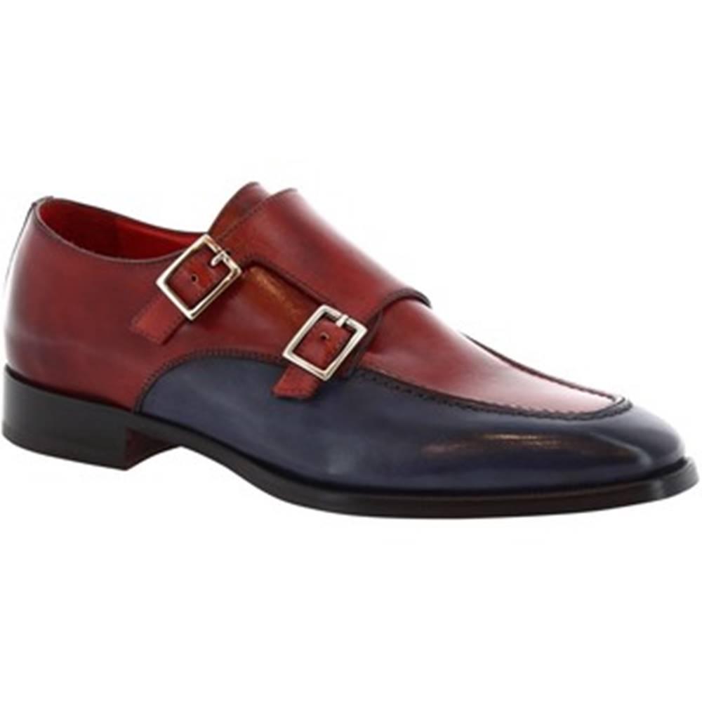 Leonardo Shoes Mokasíny Leonardo Shoes  8742E19 TOM VITELLO DELAVE BLUETTE