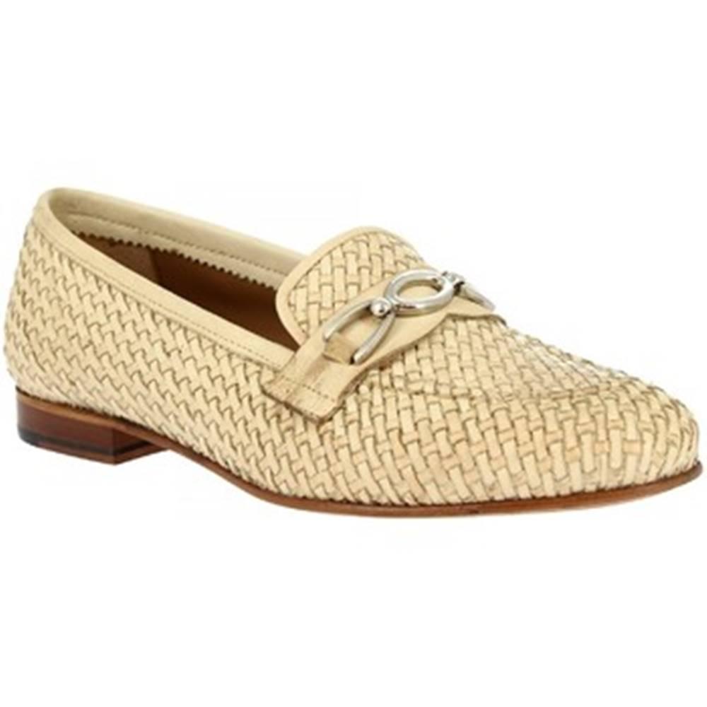 Leonardo Shoes Mokasíny Leonardo Shoes  TOR05 VITELLO NAT