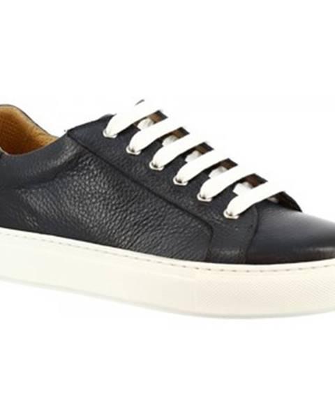 Modré tenisky Leonardo Shoes