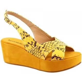 Sandále Leonardo Shoes  3378 TONI PITONE GIALLO