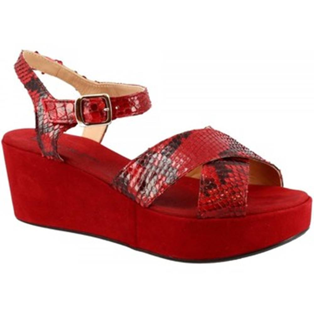 Leonardo Shoes Sandále Leonardo Shoes  3408 TONI CAMOSCIO ROSSO