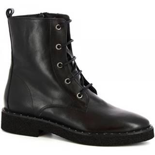 Čižmy do mesta Leonardo Shoes  4758SASHA VITELLO NERO