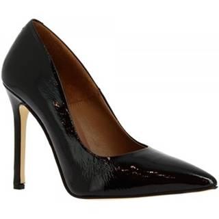 Lodičky Leonardo Shoes  206 NAPLAK NERO
