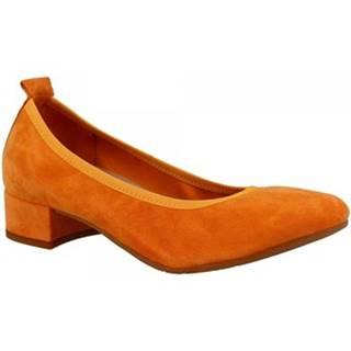 Lodičky Leonardo Shoes  2381/JESSICA CAMOSCIO ARANCIO