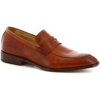 Mokasíny Leonardo Shoes  PINA 8 VITELLO MARRONE