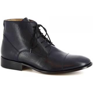Polokozačky Leonardo Shoes  PINA 3022 VITELLO BLEU