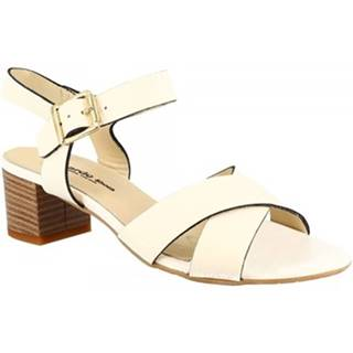 Sandále Leonardo Shoes  C 40 VACCH CUOIO BIANCO