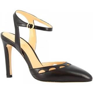 Sandále Leonardo Shoes  E1601 NAPPA NERO