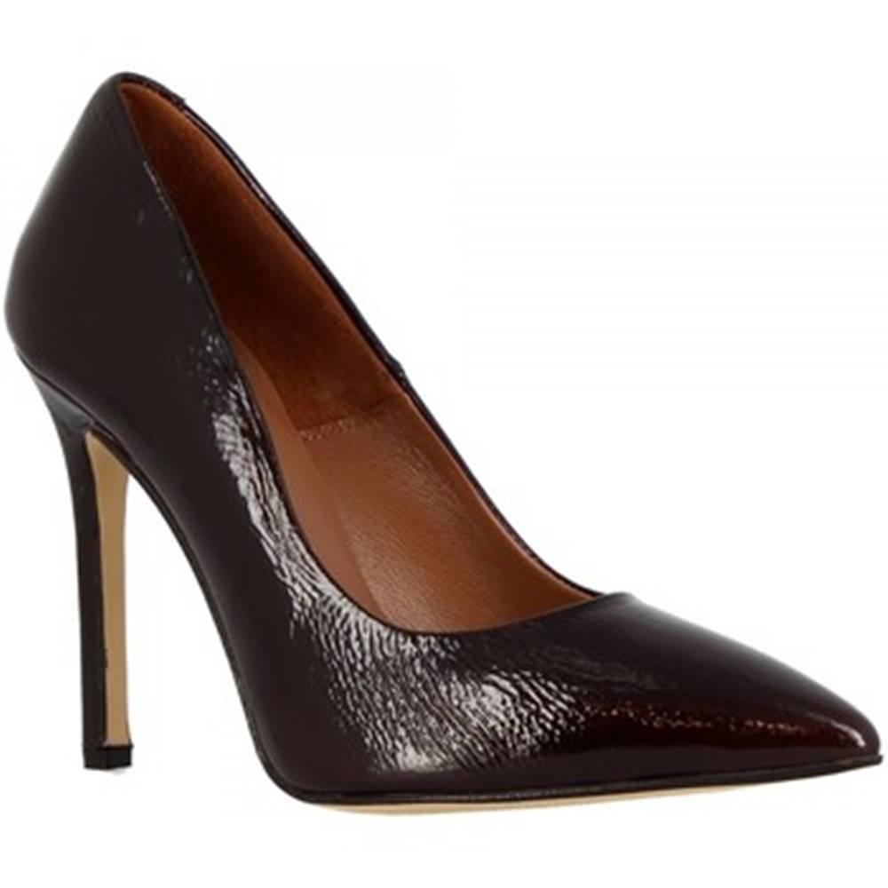Leonardo Shoes Lodičky Leonardo Shoes  206 NAPLAK BORDEAUX