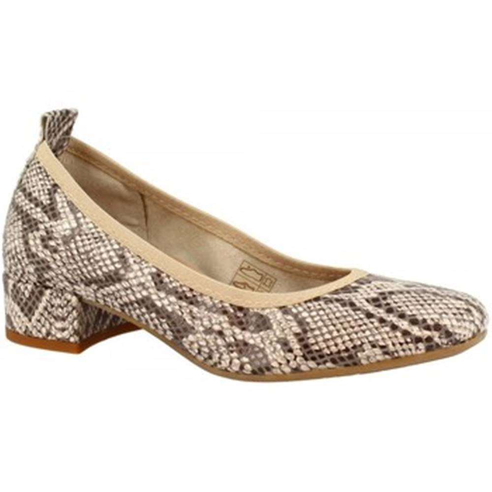 Leonardo Shoes Lodičky Leonardo Shoes  2381/JESSICA PITEN BEIGE