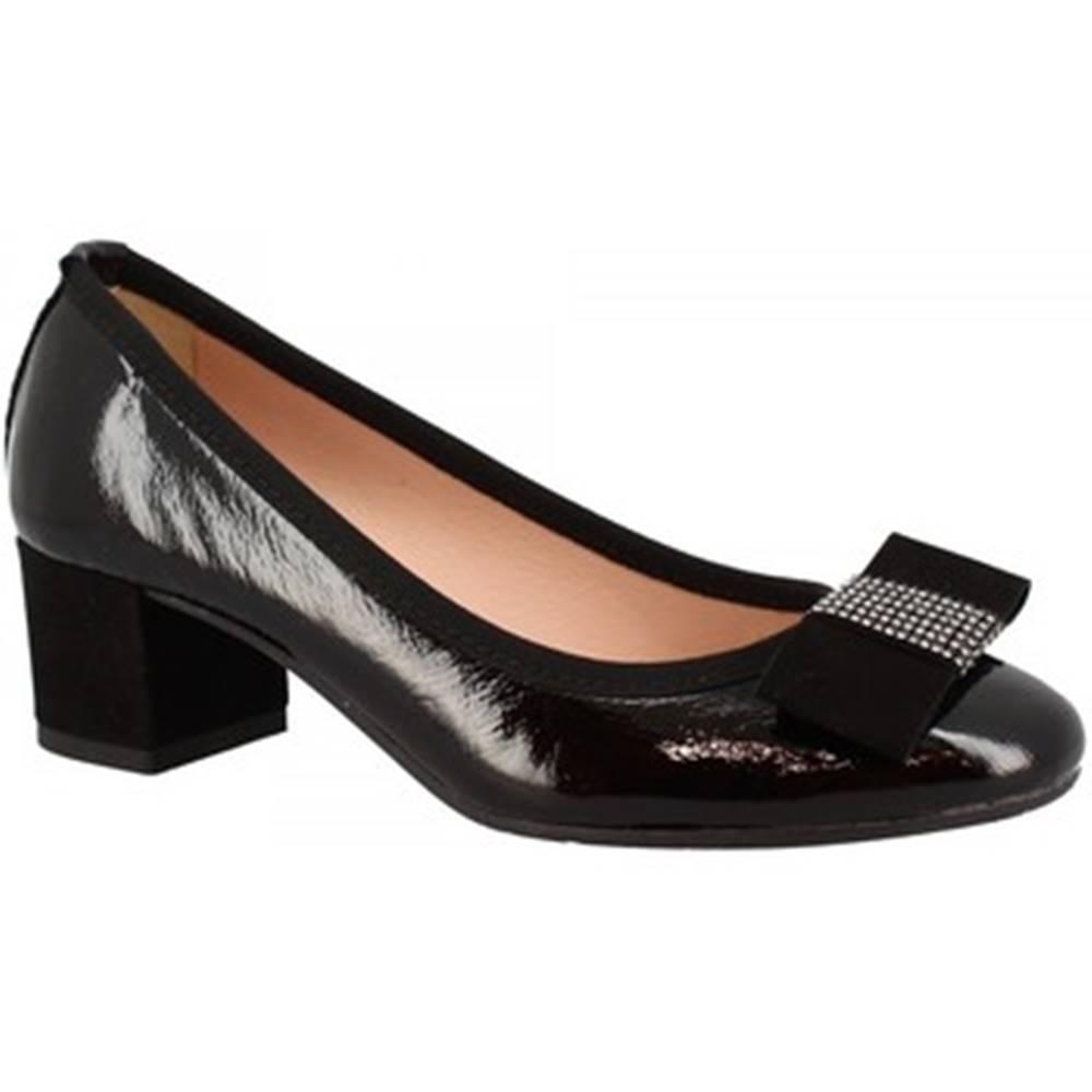 Leonardo Shoes Lodičky Leonardo Shoes  3056 NAPLAK NERO