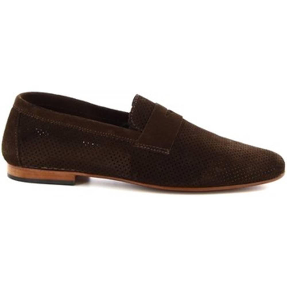 Leonardo Shoes Mokasíny Leonardo Shoes  FD04 CAMOSCIO T. MORO