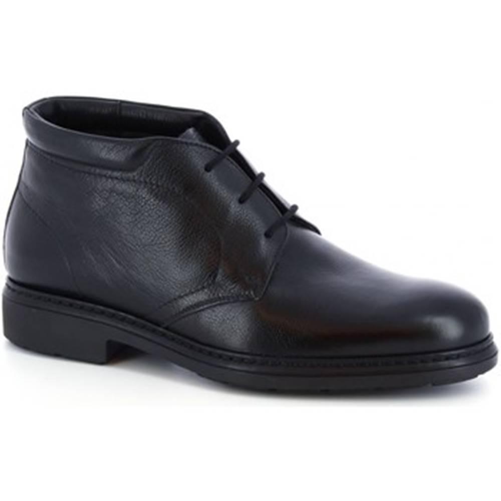 Leonardo Shoes Polokozačky Leonardo Shoes  75534-I F. 755 GOMMA ILARI CUC NERO
