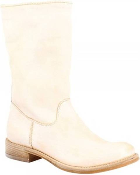 Béžové čižmy Leonardo Shoes