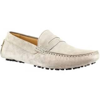 Mokasíny Leonardo Shoes  503 CAMOSCIO GRIGIO