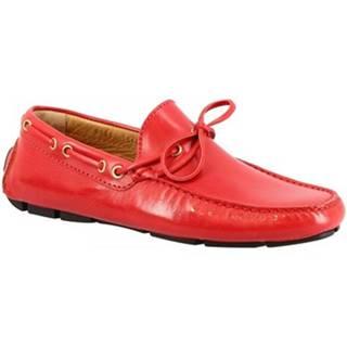 Mokasíny Leonardo Shoes  8103AF BUFF MEXICO