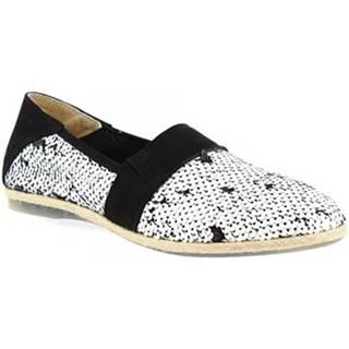 Mokasíny Leonardo Shoes  CB01 PAILLETTES NERO