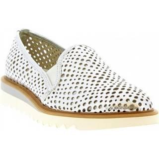 Mokasíny Leonardo Shoes  DX30D LAMINATO ARGENTO