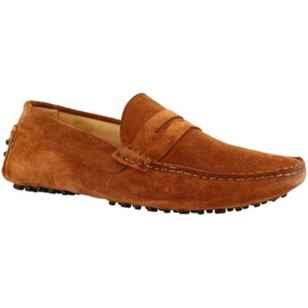Leonardo Shoes Mokasíny Leonardo Shoes  503 CAMOSCIO MARRONE