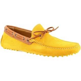 Mokasíny Leonardo Shoes  8187AF SOFTY TOPAZIO