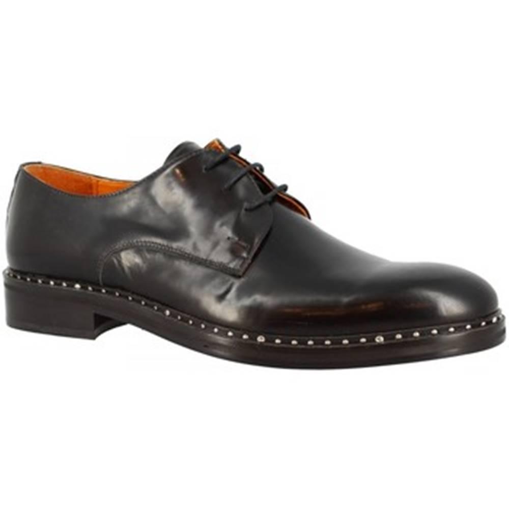 Leonardo Shoes Derbie Leonardo Shoes  161-69 PE ABBRASIVA NERO