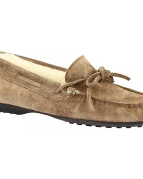 Hnedé papuče Leonardo Shoes