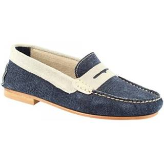 Mokasíny Leonardo Shoes  503 NABUK JEANS GRIGIO
