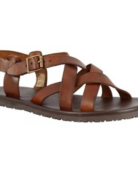 Hnedé sandále Leonardo Shoes
