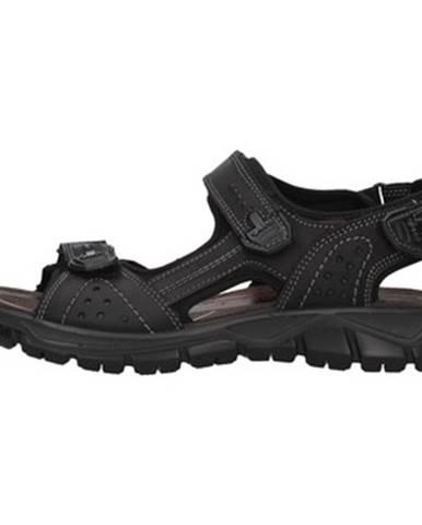 Čierne športové sandále IGI CO