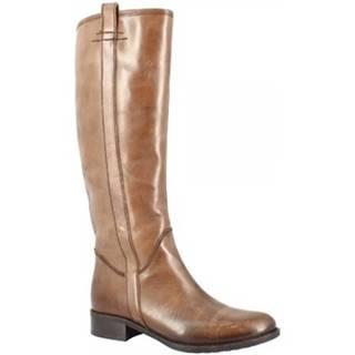 Čižmy do mesta Leonardo Shoes  D066110LI6. TQ01 TEQUILA BRANDY
