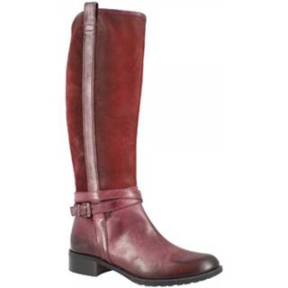 Čižmy do mesta Leonardo Shoes  D078090LI6. AI04 AIR BORDEAUX