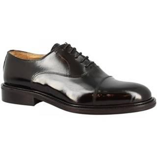 Derbie Leonardo Shoes  854-17 PE ABBRASIVA NERO