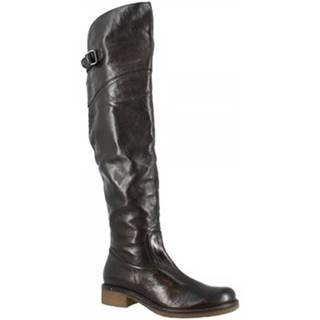 Vysoké čižmy Leonardo Shoes  D06590CHI6 . CL01 CALIFORNIA NERO