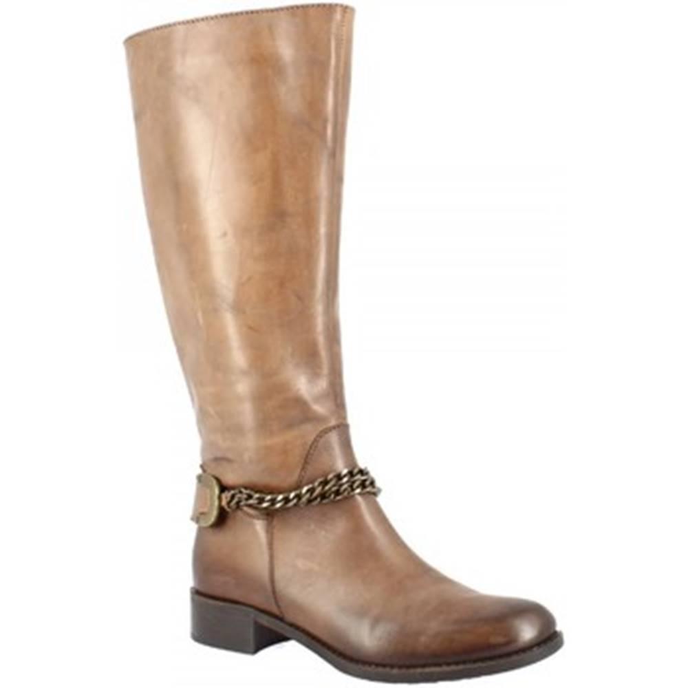 Leonardo Shoes Čižmy do mesta Leonardo Shoes  D082680LI6. TQ01 BRANDY