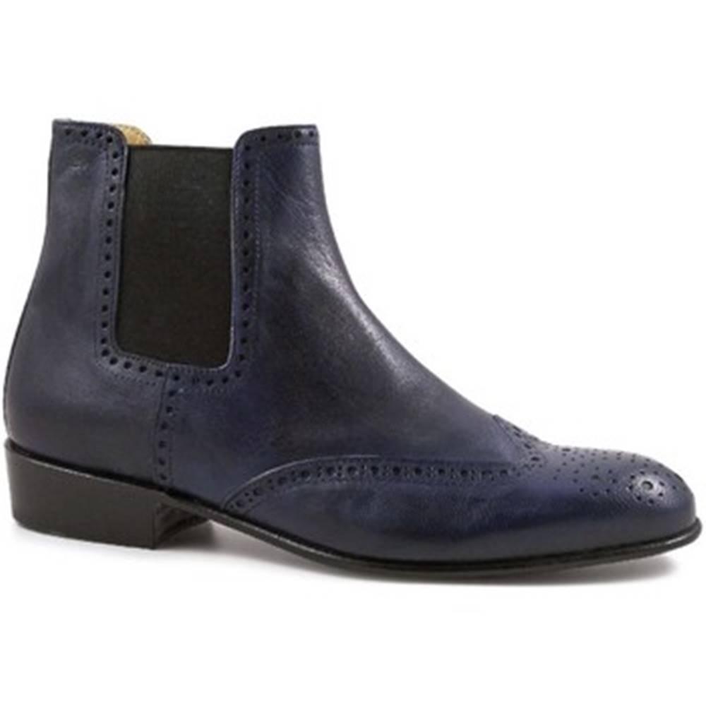 Leonardo Shoes Čižmičky Leonardo Shoes  PINA 044 BLU