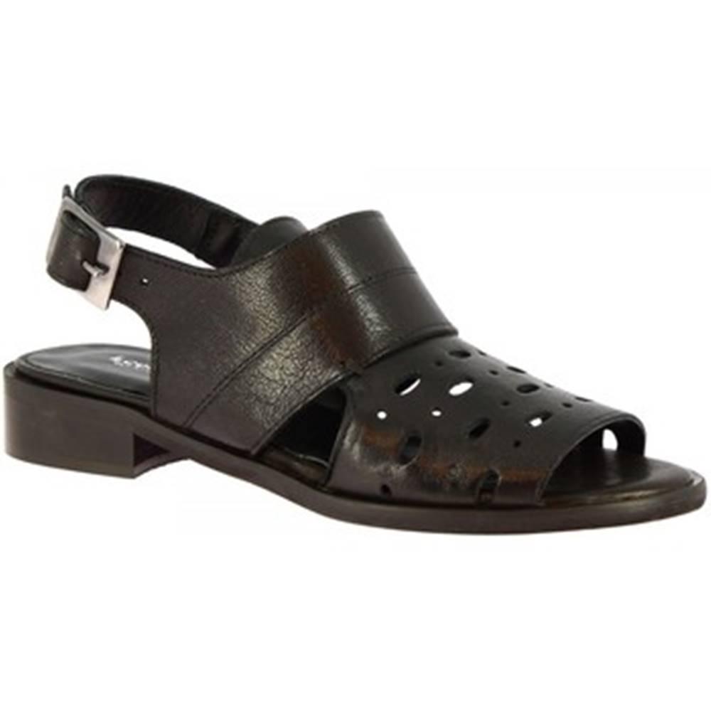 Leonardo Shoes Sandále Leonardo Shoes  4677 ROK NERO