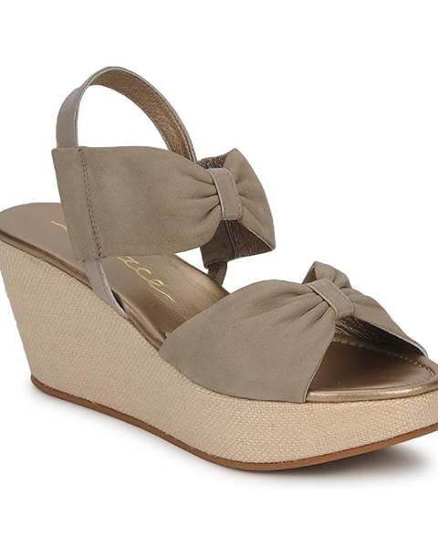 Béžové sandále Espace