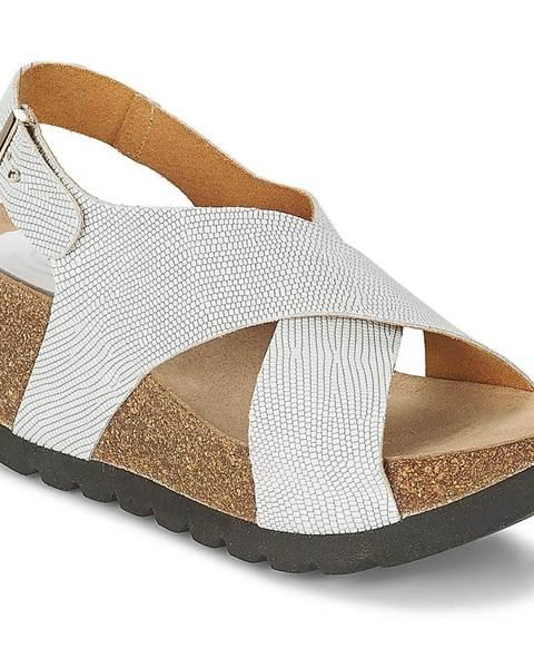 Biele sandále Ganadora