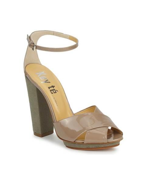Béžové sandále Keyté