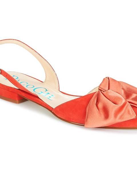 Oranžové sandále Paco Gil