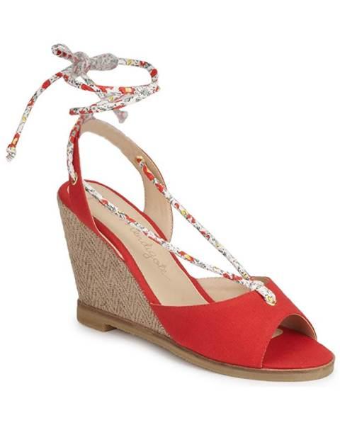 Červené sandále Petite Mendigote