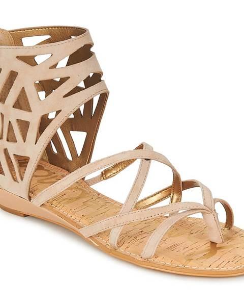 Béžové sandále Sam Edelman