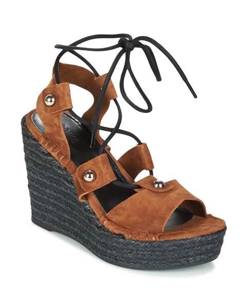 Hnedé sandále Sonia Rykiel