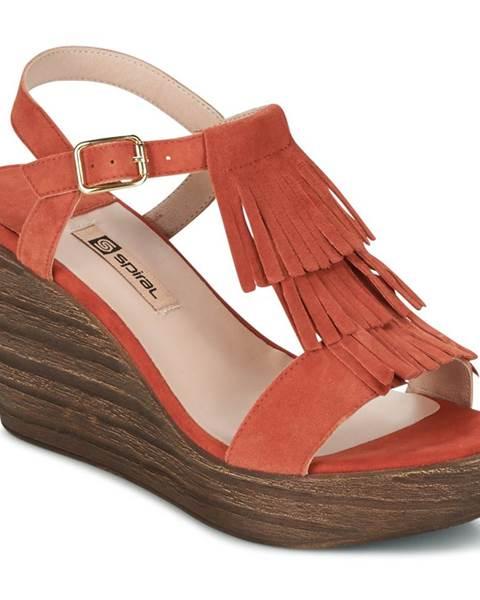 Oranžové sandále Spiral