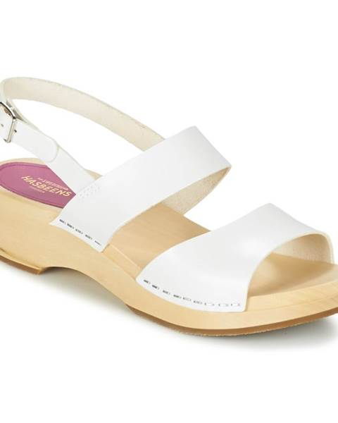 Biele sandále Swedish hasbeens